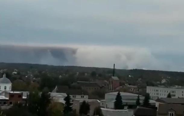 Появилось видео с места взрыва возле Ични