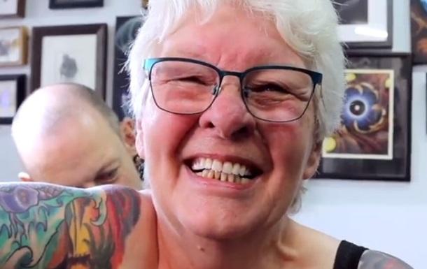 Пожилая британка сделала 16 татуировок после смерти мужа
