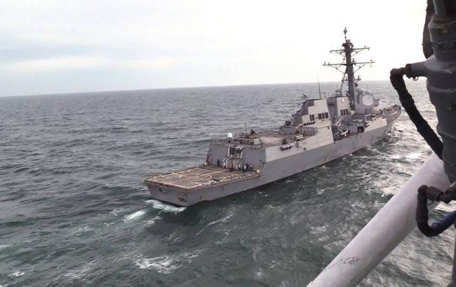 Украинские ВМС провели совместные тренировки с эсминцем США