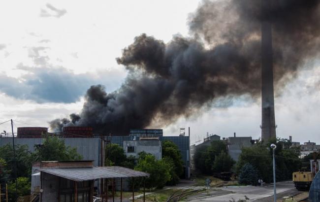 В Днепре горел металлургический завод Коминмет