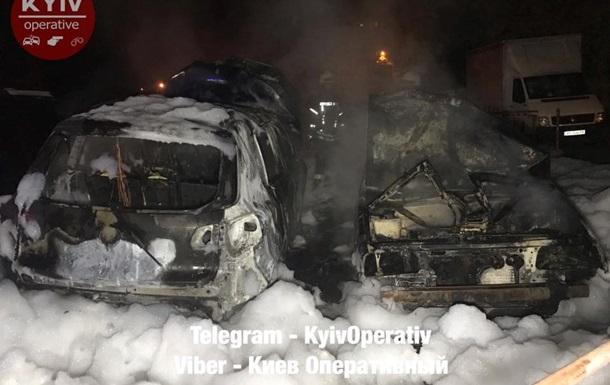 В Киеве сгорели несколько автомобилей