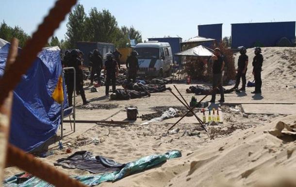 В Киеве столкновения на скандальной стройке