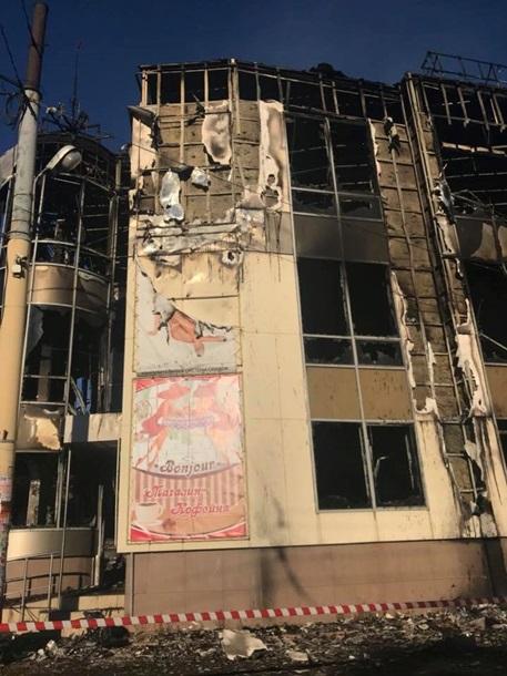 В ЛНР сгорел торговый центр