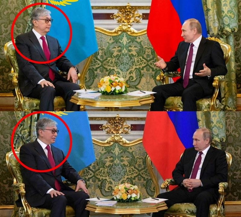 Делают другое лицо: пресс-службу президента Казахстана Токаева уличили в чрезмерном увлечении фотошопом